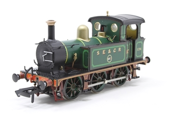 H4-P-001-PO02 SECR P Class 0-6-0T 178 in SE&CR full lined green (with brass) - Open box, Paint mark on boiler £87
