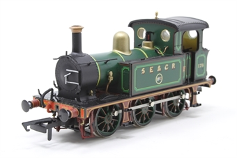 H4-P-001-PO03 SECR P Class 0-6-0T 178 in SE&CR full lined green (with brass) - Open box, Minor paint chipping on dome