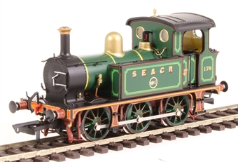 H4-P-001 SECR P Class 0-6-0T 178 in SE&CR full lined green (with brass)