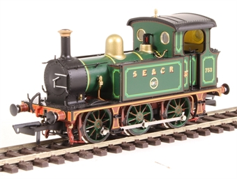 H4-P-002 SECR P Class 0-6-0T 753 in SE&CR full lined green (with brass)
