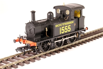 H4-P-005 SECR P Class 0-6-0T 1555 in SR black with Egyptian lettering