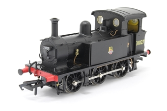 H4-P-007-PO01 SECR P Class 0-6-0T 31027 in BR black with early emblem - Open box, Sound fitted, poor runner, part of foot ladder loose, imperfect box