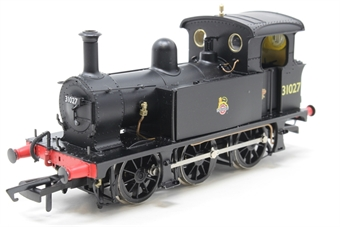 H4-P-007-PO03 SECR P Class 0-6-0T 31027 in BR black with early emblem - Open box, DCC Sound fitted