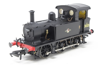H4-P-008-PO02 SECR P Class 0-6-0T 31323 in BR black with late crest - Open box, Missing whistle and detailing pack