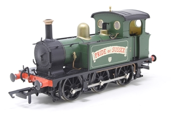 "H4-P-010-PO02 SECR P Class 0-6-0T ""Pride of Sussex"" in Robertsbridge Flour Mill green - Pre-owned - DCC fitted, imperfect box"