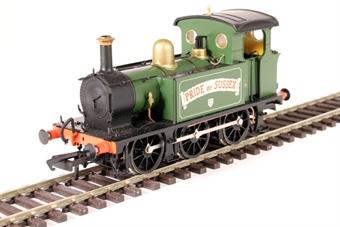 "H4-P-010 SECR P Class 0-6-0T ""Pride of Sussex"" in Robertsbridge Flour Mill green"