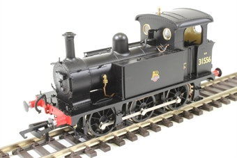 H4-P-016 SECR P Class 0-6-0T 31556 in BR black with early emblem