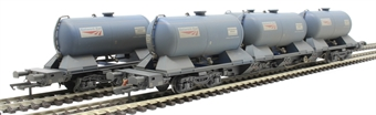 H4-RHTT-005 Rail Head Treatment Train 'Water Jet' with 2 wagons and water jetting modules - weathered £126