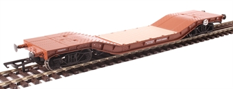 H4-WW-007 Warwell wagon 50t with diamond frame bogies M360329 in BR Gulf Red