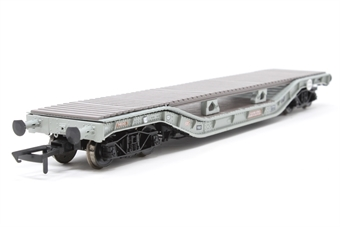 H4-WW-011-PO01 Warwell wagon 50t with diamond frame bogies DM748343 in BR grey with bolster deck conversion - Open box, imperfect box
