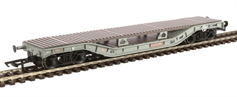 H4-WW-011 Warwell wagon 50t with diamond frame bogies DM748343 in BR grey with bolster deck conversion