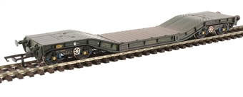 H4-WW-015 Warwell wagon 50t with Gloucester GPS bogies MODA95512 in MOD 1970s olive - weathered £37