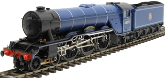 """H7-A3-004 Class A3 4-6-2 60072 """"Sunstar"""" in BR Express blue with unstreamlined non-corridor tender"""