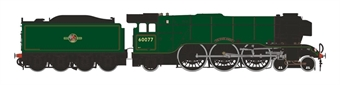 """H7-A3-006 Class A3 4-6-2 60077 """"The White Knight"""" in BR green with late crest and unstreamlined non-corridor tender"""
