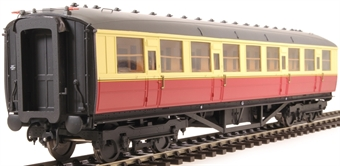 H7-TC115-003 Gresley Teak coach Diagram 115 Corridor Third unnumbered in BR carmine & cream livery