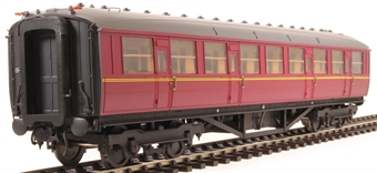 H7-TC115-005 Gresley Teak coach Diagram 115 Corridor Third unnumbered in BR maroon livery