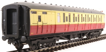 H7-TC175-004 Gresley Teak coach Diagram 175 Brake Corridor Composite E10103 in BR carmine & cream livery