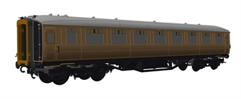 H7-TC186-001 Gresley Teak coach Diagram 186 Open Third unnumbered in LNER Teak livery