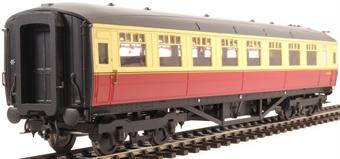 H7-TC186-004 Gresley Teak coach Diagram 186 Open Third E13293E in BR carmine & cream livery