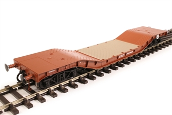 H7-WW-706 Warwell wagon 50t with diamond frame bogies M360329 in BR gulf red