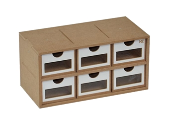 HZ-OM01a Modular Organizer drawers module x 6 - flat-pack kit