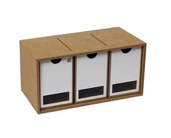 HZ-OM01b Modular Organizer drawers module x 3 - flat-pack kit