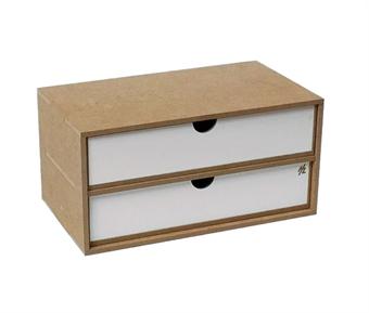 HZ-OM02b Modular Organizer flat drawers module x 2 - flat-pack kit