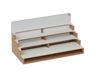 HZ-OM05u Modular Organizer paint shelves module - flat-pack kit