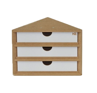 HZ-OM11 Modular Organizer end corner drawers module - flat-pack kit