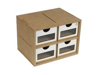 HZ-OMs01a Modular Organizer small drawers module x 4 - flat-pack kit