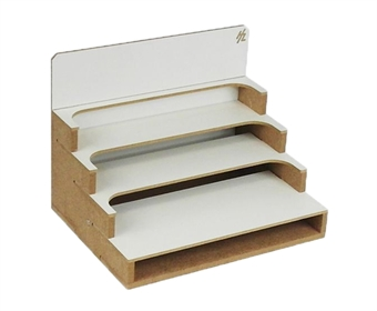 HZ-OMs05u Modular Organizer small paint shelves module - flat-pack kit