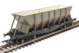 ICI001BW ICI Hopper wagon 3254 in mid grey body with black underframes and bogies - weathered. 1936 - 1950s £25