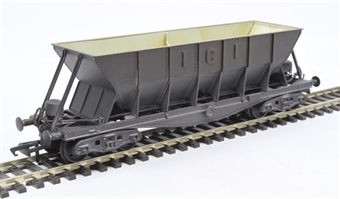 ICI005CW ICI Hopper wagon 19116 in battleship grey body, underframes & bogies with PHV TOPS panel (black backing) - weathered. 1973 - 1992