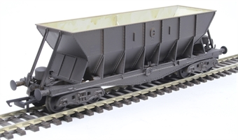 ICI005EW ICI Hopper wagon 19011 in battleship grey body, underframes & bogies with PHV TOPS panel (black backing) - weathered. 1973 - 1992