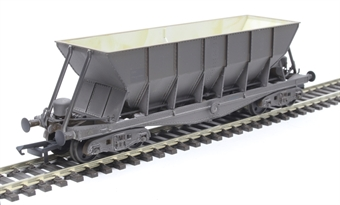 ICI006BW ICI Hopper wagon 19019 in battleship grey body, underframes & bogies with PHV TOPS panel (black backing, no ICI lettering) - weathered. 1992 - 1997