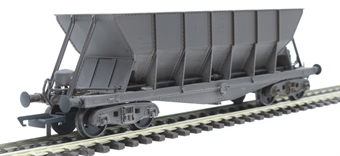 ICI006CW ICI Hopper wagon 19052 in battleship grey body, underframes & bogies with PHV TOPS panel (black backing, no ICI lettering) - weathered. 1992 - 1997