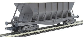 ICI006DW ICI Hopper wagon 19110 in battleship grey body, underframes & bogies with PHV TOPS panel (black backing, no ICI lettering) - weathered. 1992 - 1997