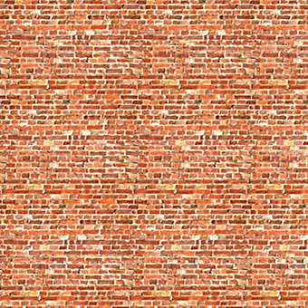 ID-BM008A Self-adhesive building papers - Old red brick - Pack of ten A4 sheets