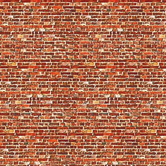 ID-BM008C Self-adhesive building papers - Old dark red brick - Pack of ten A4 sheets
