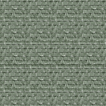 ID-BM061 Self-adhesive building papers - Green roof tiles - Pack of ten A4 sheets