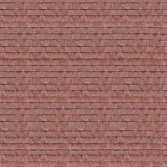 ID-BM063 Self-adhesive building papers - Red roof tiles - Pack of ten A4 sheets