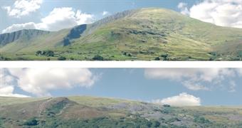 "ID-P255B Premium 15 inch photographic backscene - ""Welsh Hills - Llanberis"" - Pack B"