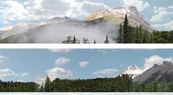 "ID-P260B Premium 15 inch photographic backscene - ""Rocky Mountains"" - Pack B"