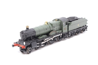 INS7808-PO02 Cookham Manor GWR unlined shirtbutton green - Pre-owned - sold as seen, non runner, missing driveshaft, motor works, cracked box, tender loose from chassis, DCC fitted