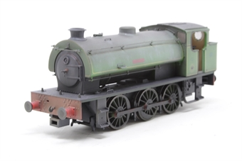 """J9405-PO04 Austerity 0-6-0ST """"Hurricane"""" in NCB Bickershaw Colliery lined green - lightly weathered - Limited Edition of 200 - Pre-owned - Like new"""