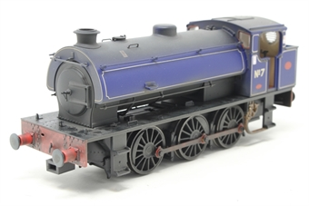 J9409-PO01 Austerity 0-6-0ST No 7 in NCB Littleton Colliery lined blue - lightly weathered - Limited Edition of 200 - Open box, cosmetic coupling hook on front bent, noisy runner