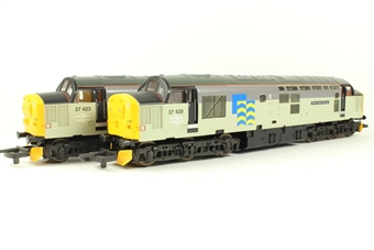 L149932 Class 37 37423 & 37428 'Sir Murray Morrison/David Lloyd Jones' in Railfreight Grey - Limited Edition of 330