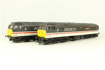 L149949 Class 47 47810 'Porterbrook' & 47676 'Northamptonshire' in Intercity Swallow Livery - Limited Edition for Macclesfield Models