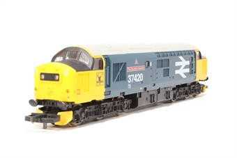 """L204641 Class 37 37420 """"The Scottish Hosteller"""" in BR Large Logo blue limited edition of 550"""