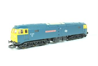 "L204734 Class 47 47555 ""The Commonwealth Spirit"" in BR blue"